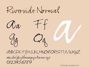 Riverside Normal 1.000 Font Sample