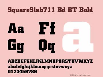 SquareSlab711 Bd BT Bold mfgpctt-v1.27 Thursday, April 2, 1992 9:57:34 am (EST) Font Sample