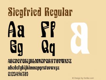 Siegfried Regular Version 1.2; 2001 Font Sample
