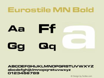 eurostile mn extended font