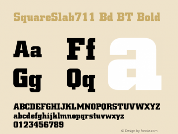 SquareSlab711 Bd BT Bold mfgpctt-v1.52 Thursday, January 14, 1993 10:54:12 am (EST) Font Sample