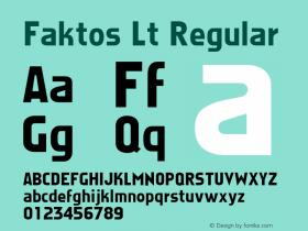 Faktos Lt Regular Altsys Metamorphosis:4/10/92 Font Sample