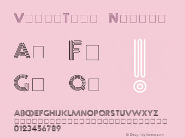 VibroText Normal Unknown Font Sample