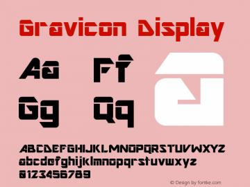Gravicon Display Version 001.000 Font Sample