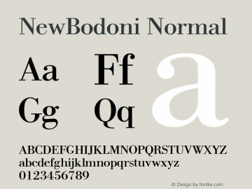 NewBodoni Normal 1.0 Mon Oct 18 10:59:41 1993图片样张