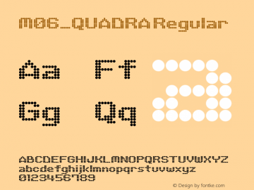 M06_QUADRA Regular 1.0 Font Sample