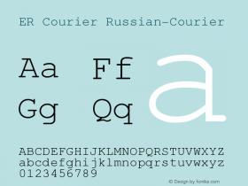 ER Courier Russian-Courier Version 1.000 Font Sample
