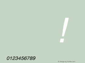 Symbol MW Italic Version 001.003图片样张