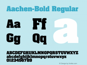 Aachen-Bold Regular Converted from C:\WINDOWS\AARDVARK.TF1 by ALLTYPE Font Sample