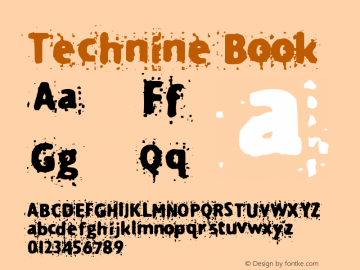 Technine Book Version Macromedia Fontograp Font Sample