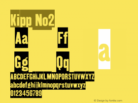 Kipp No2 Version 001.000 Font Sample
