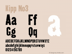 Kipp No3 Version 001.000 Font Sample