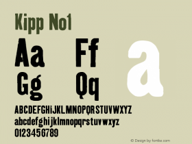 Kipp No1 Version 001.000 Font Sample