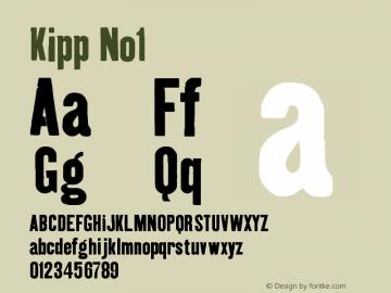 Kipp No1 Version 001.000 Font Sample