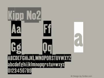 Kipp No2 Version 001.000 Font Sample