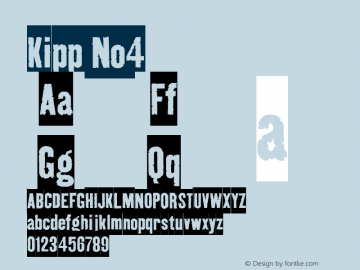 Kipp No4 Version 001.000 Font Sample