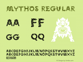 Mythos Regular Version 001.000 Font Sample