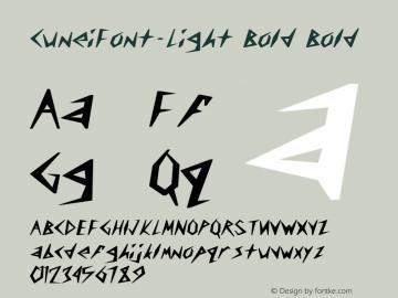 CuneiFont-Light Bold Bold Unknown Font Sample