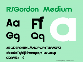 RSGordon Medium Version 001.001图片样张