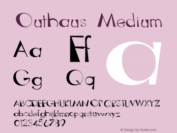 Outhaus Medium 001.000 Font Sample