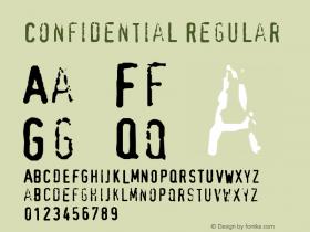 Confidential Regular Version 001.000 Font Sample