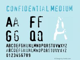 Confidential Medium Version 001.000 Font Sample