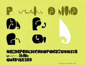 Psychedelic AvalonA Version 1.000 Font Sample