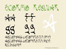 Scorpio Regular 1.000 Font Sample