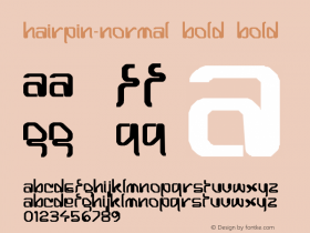 Hairpin-Normal Bold Bold Unknown图片样张