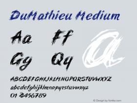 DuMathieu Medium Version 001.000 Font Sample