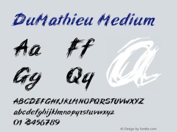 DuMathieu Medium Version 001.000图片样张