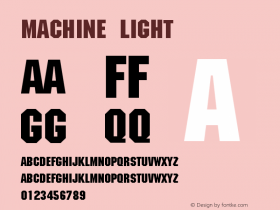 Machine Light Version 001.000图片样张