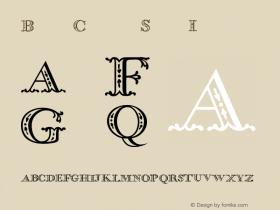 BodoniClassic ShadowInitials Version 001.000 Font Sample