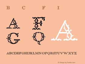 BodoniClassic FloralInitials Version 001.000 Font Sample