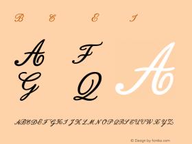 BodoniClassic EnglishInitials Version 001.000 Font Sample