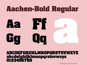 Aachen-Bold Regular Converted from C:\TEMP\AARDVARK.TF1 by ALLTYPE Font Sample