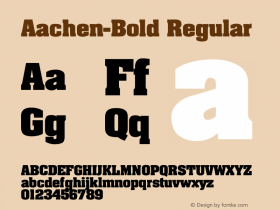 Aachen-Bold Regular Converted from C:\TTFONTS\AACHENB.TF1 by ALLTYPE Font Sample