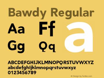 Bawdy Regular 001.000 Font Sample
