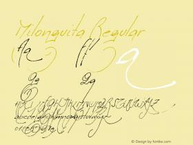 Milonguita Regular 1.00图片样张