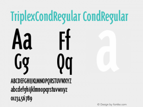 TriplexCondRegular CondRegular Version 001.000图片样张