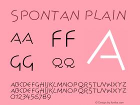 Spontan Plain Version 001.000 Font Sample