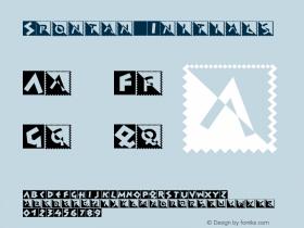 Spontan Initials Version 001.000 Font Sample