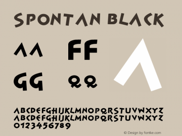 Spontan Black Version 001.000图片样张