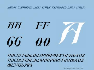 Xiphos Expanded Light Italic Expanded Light Italic 001.000图片样张