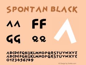 Spontan Black Version 001.000 Font Sample
