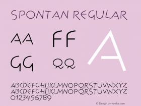 Spontan Regular 001.000 Font Sample