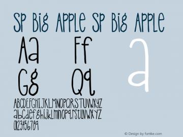SP Big Apple SP Big Apple Version 1.00 June 24, 2005, initial release图片样张