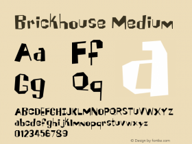 Brickhouse Medium Version 001.000 Font Sample