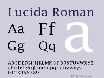 Lucida Roman 001.001 Font Sample