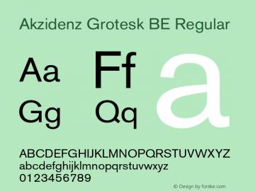 Akzidenz Grotesk BE Regular OTF 1.0;PS 001.001;Core 1.0.22 Font Sample